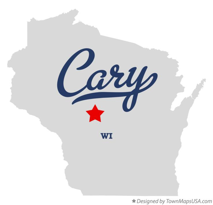 Map of Cary Wisconsin WI