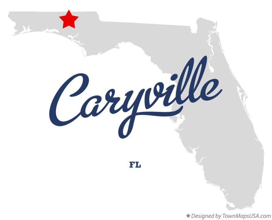 Map of Caryville Florida FL