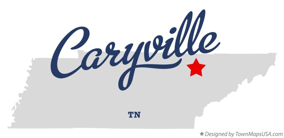 Map of Caryville Tennessee TN