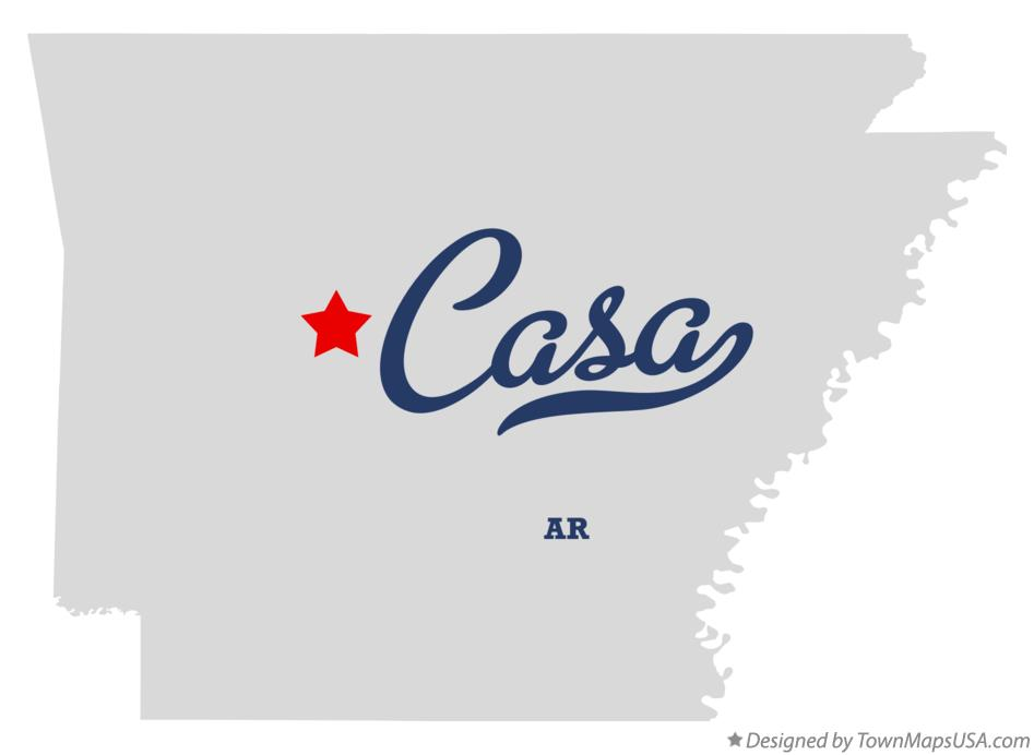Map of Casa Arkansas AR