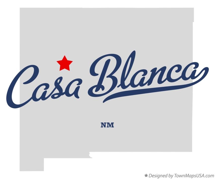 Map of Casa Blanca New Mexico NM