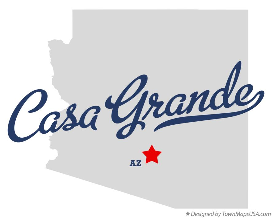 Map of Casa Grande Arizona AZ