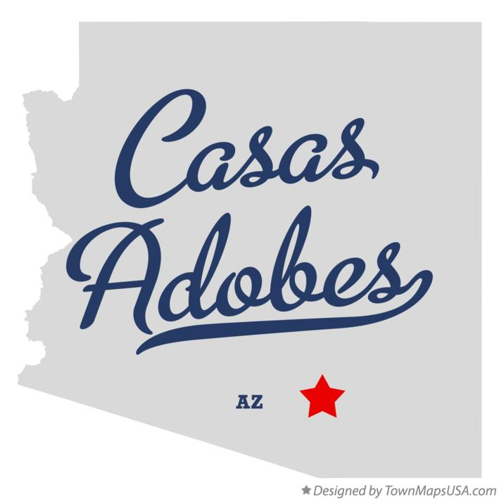 Map of Casas Adobes AZ Arizona