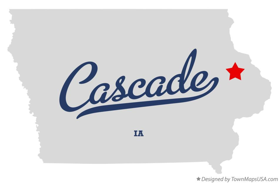Map of Cascade Iowa IA