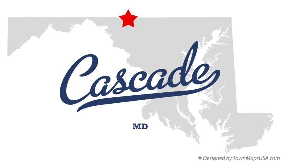 Map of Cascade Maryland MD