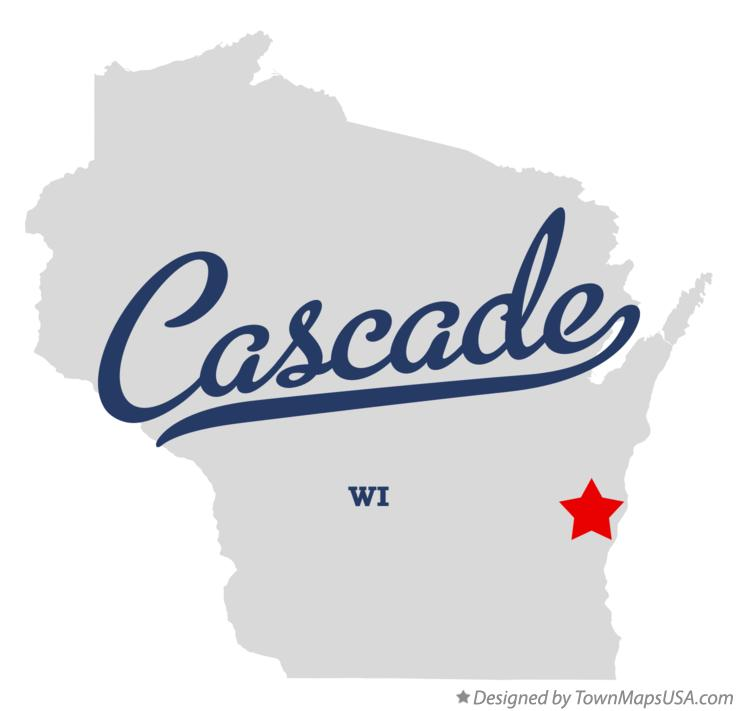 Map of Cascade Wisconsin WI