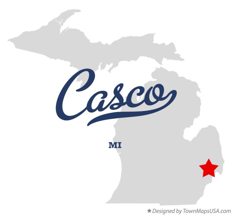 Map of Casco Michigan MI