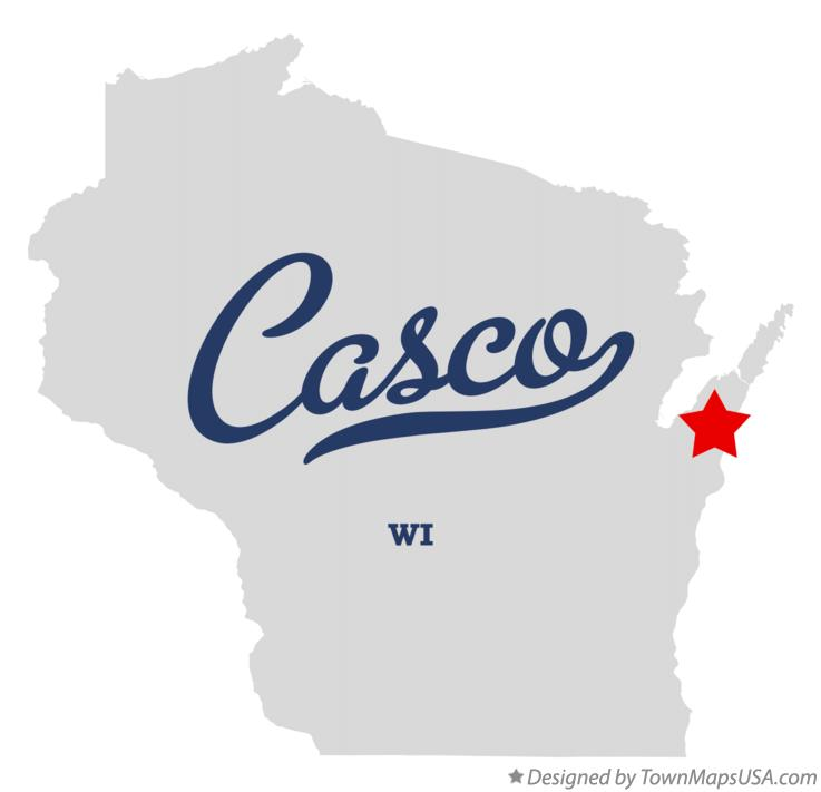 Map of Casco Wisconsin WI