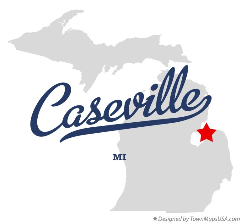Map of Caseville Michigan MI
