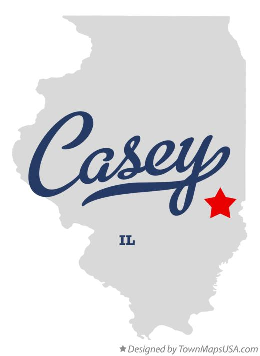 Map of Casey Illinois IL