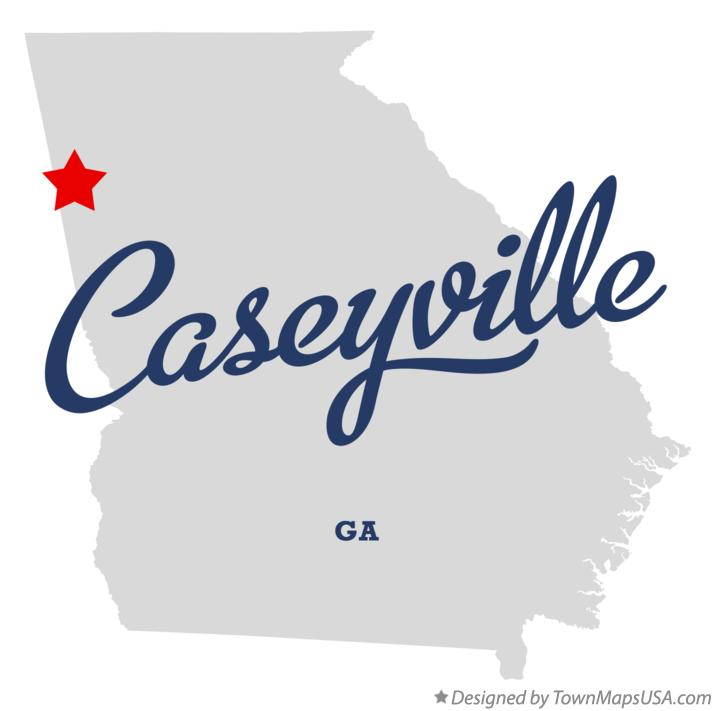 Map of Caseyville Georgia GA