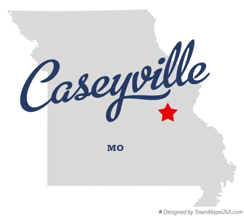 Map of Caseyville Missouri MO