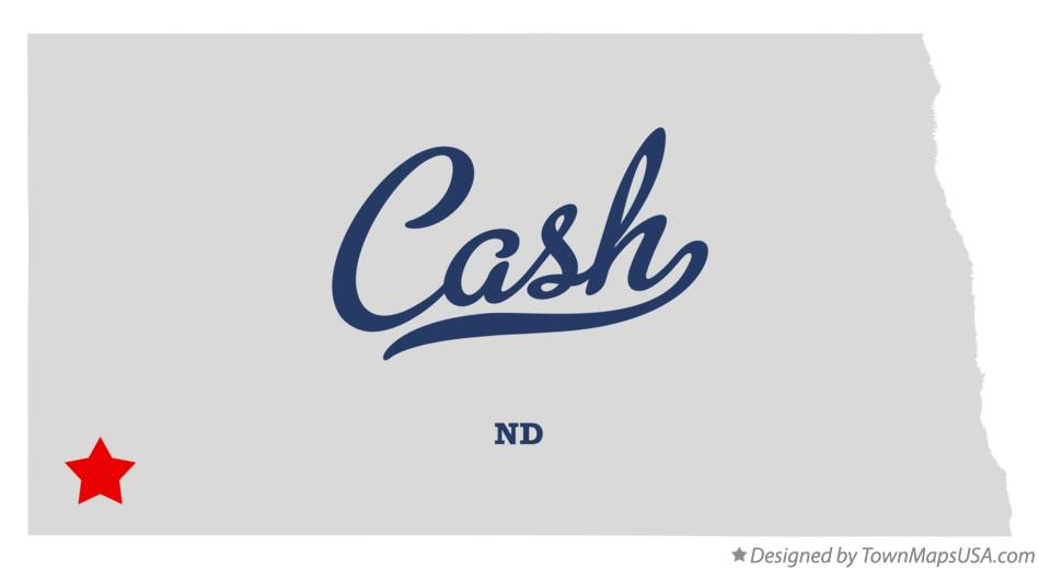 Map of Cash North Dakota ND