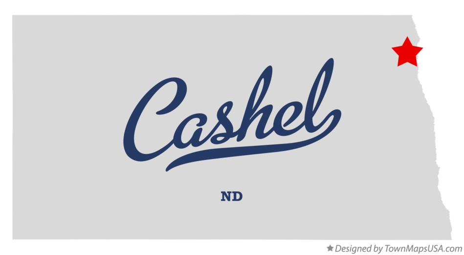 Map of Cashel North Dakota ND