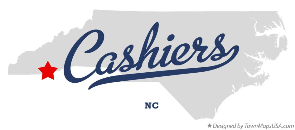 Map of Cashiers NC North Carolina