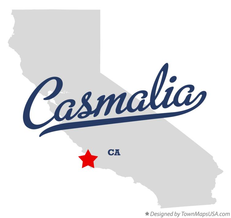 Map of Casmalia California CA