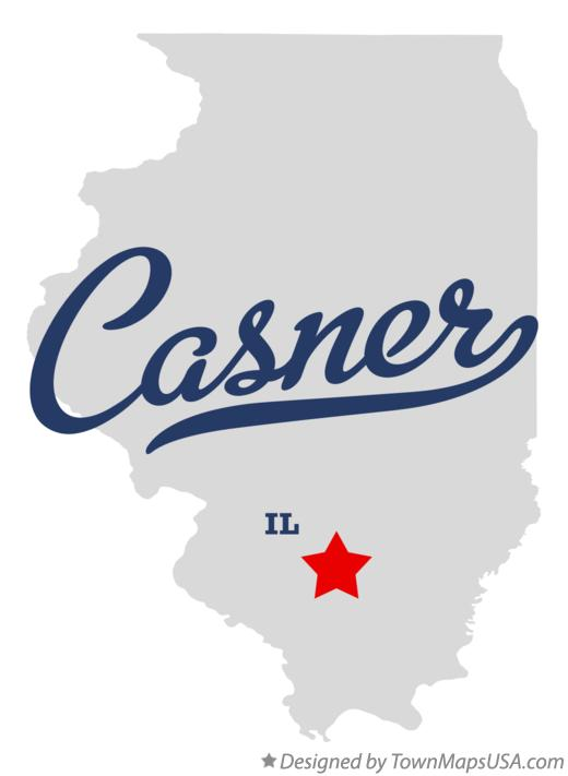 Map of Casner Illinois IL