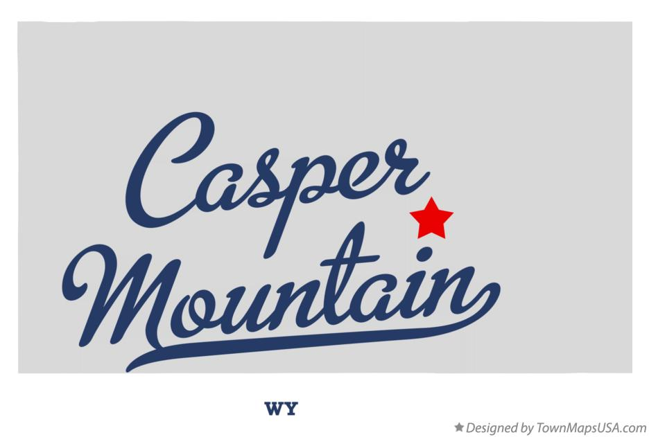 Map of Casper Mountain Wyoming WY
