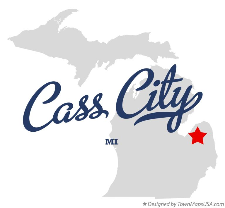 Map of Cass City Michigan MI
