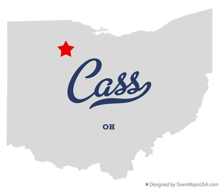 Map of Cass Ohio OH