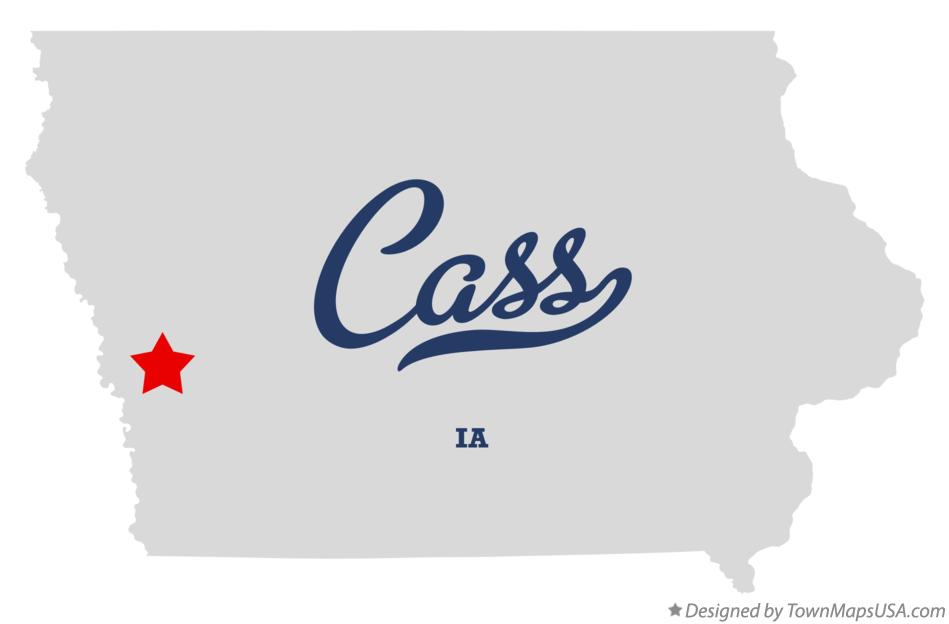 Map of Cass Iowa IA