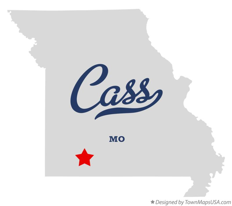 Map of Cass Missouri MO