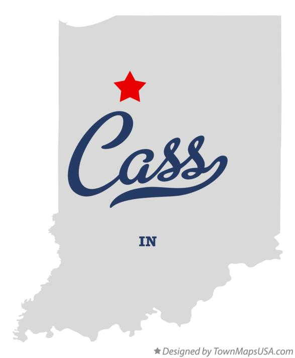 Map of Cass Indiana IN