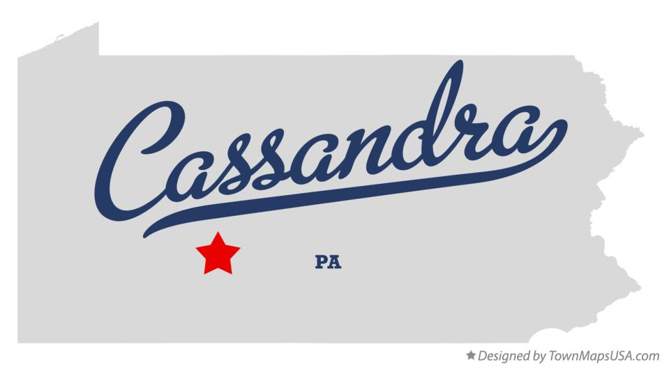 Map of Cassandra Pennsylvania PA
