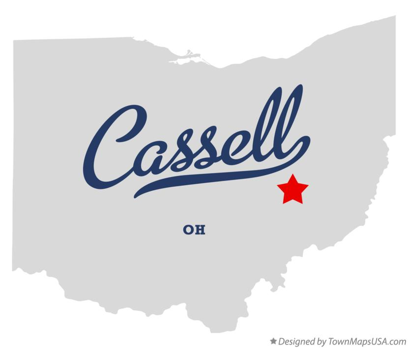 Map of Cassell Ohio OH