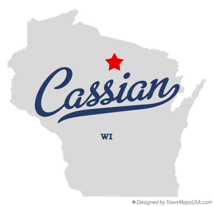Map of Cassian Wisconsin WI