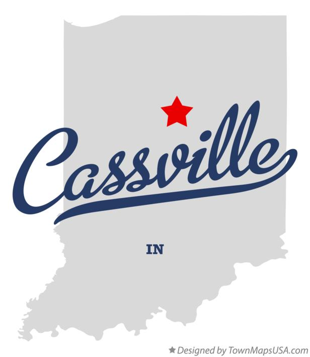 Map of Cassville Indiana IN