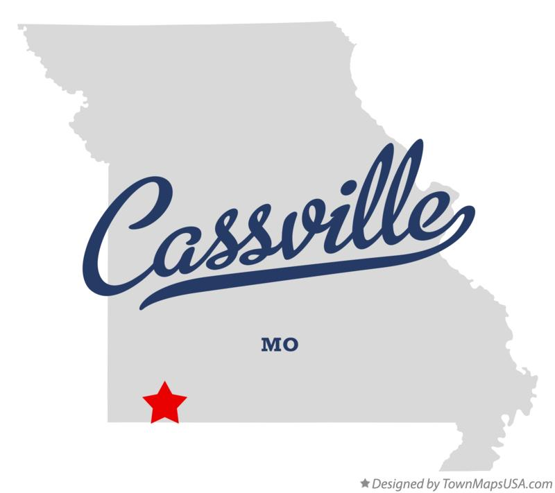 Map of Cassville Missouri MO