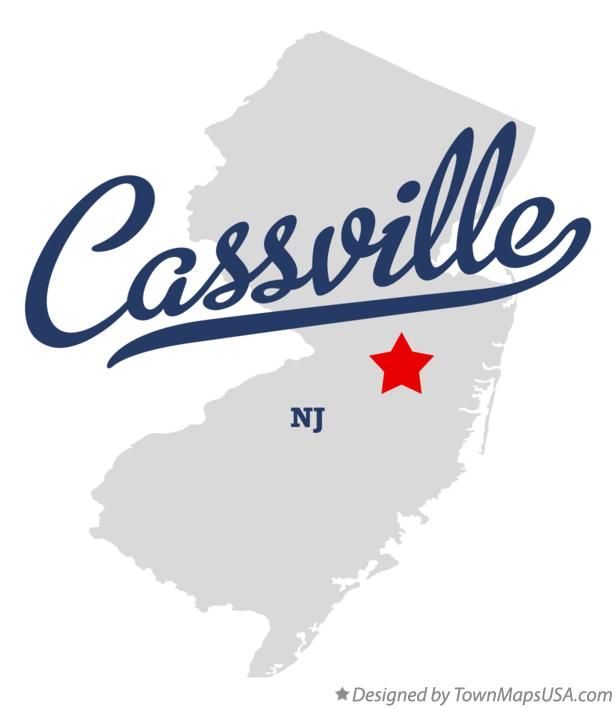 Map of Cassville New Jersey NJ
