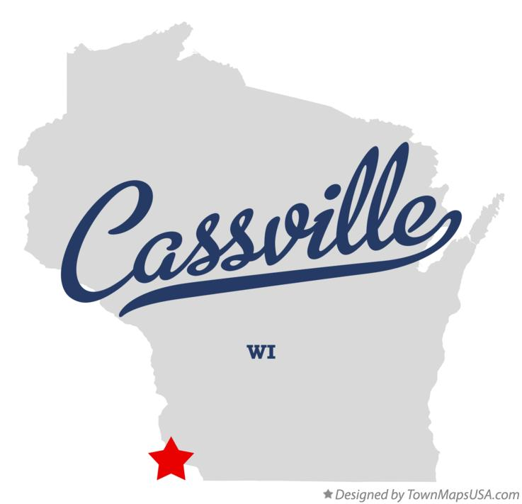 Map of Cassville Wisconsin WI