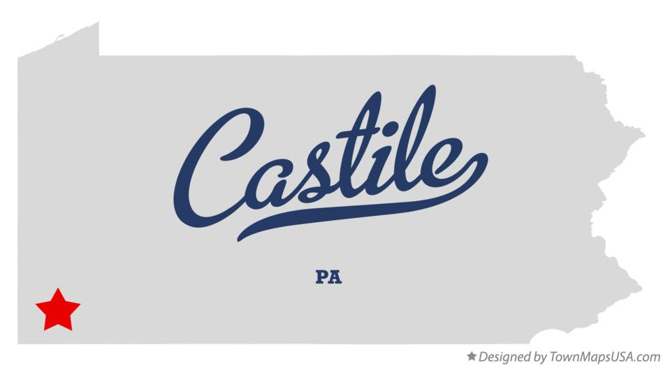 Map of Castile Pennsylvania PA