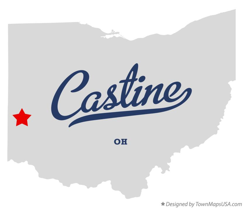 Map of Castine Ohio OH