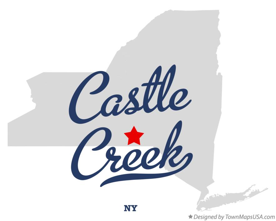 Map of Castle Creek New York NY