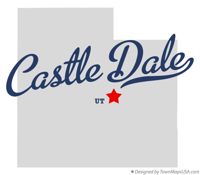 Map of Castle Dale Utah UT