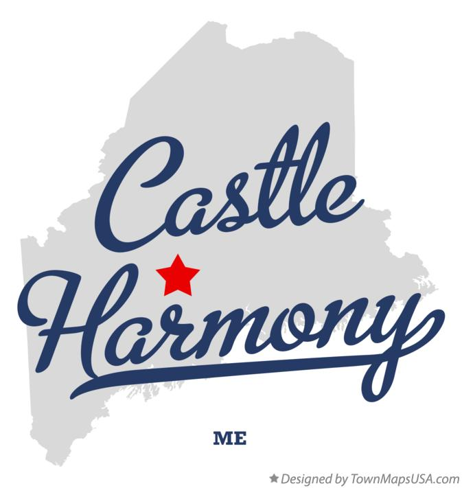 Map of Castle Harmony Maine ME