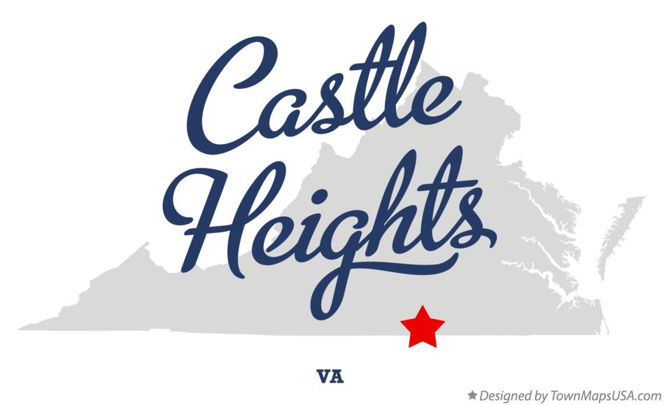 Map of Castle Heights Virginia VA