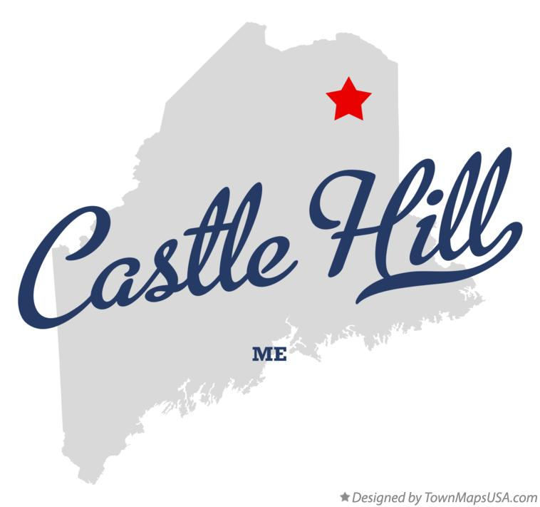 Map of Castle Hill Maine ME