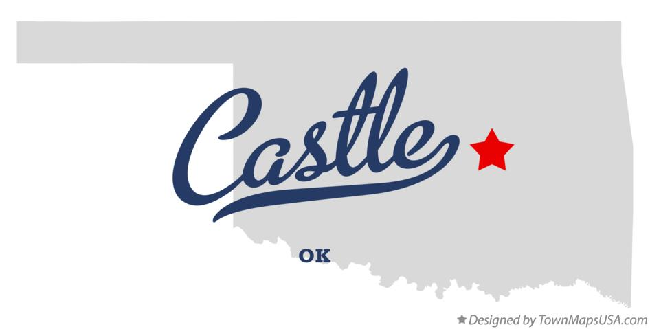 Map of Castle Oklahoma OK