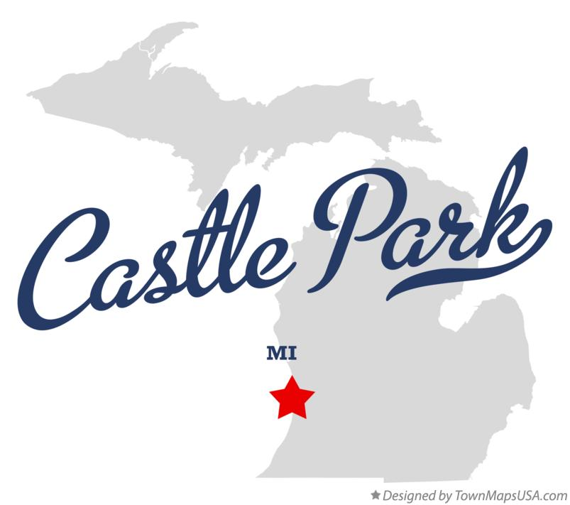 Map of Castle Park Michigan MI