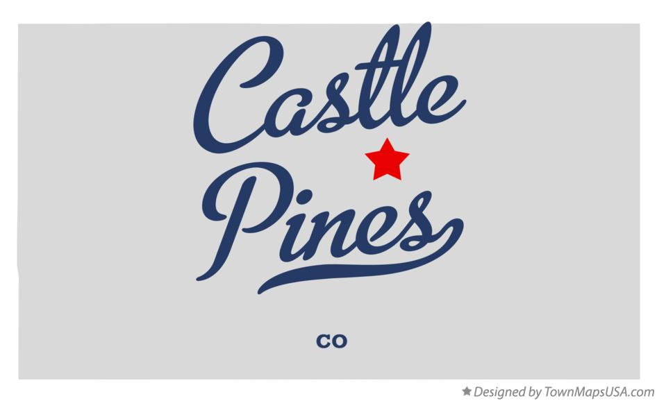 Map of Castle Pines Colorado CO
