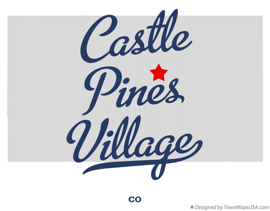Map of Castle Pines Village Colorado CO