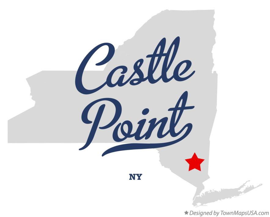 Map of Castle Point New York NY