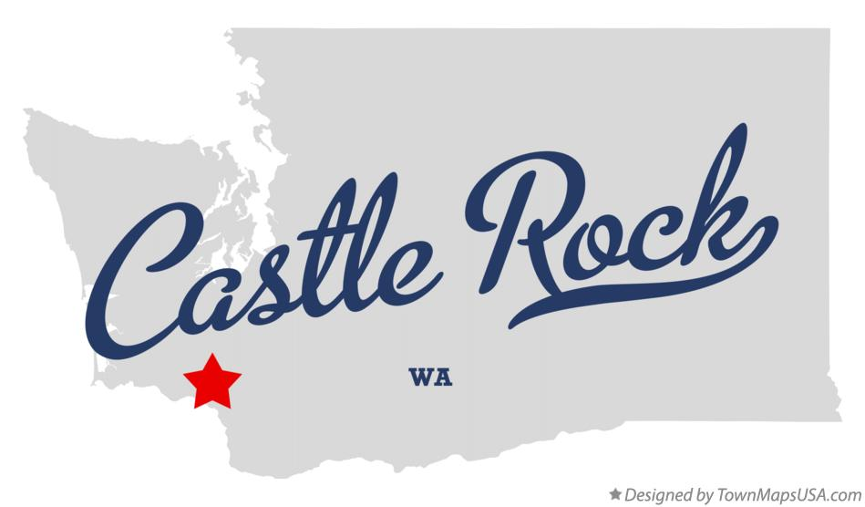 Map of Castle Rock Washington WA