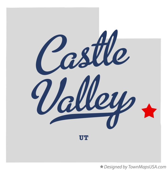 Map of Castle Valley Utah UT