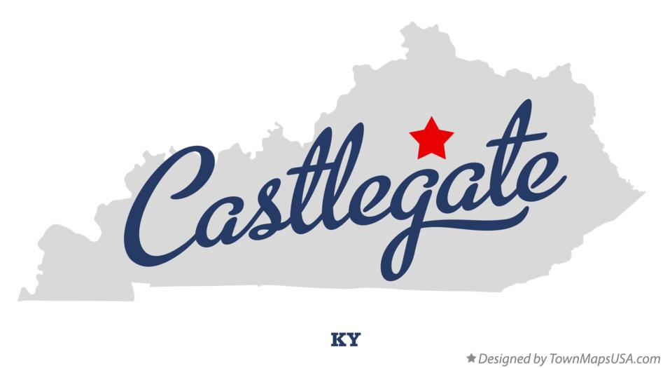 Map of Castlegate Kentucky KY