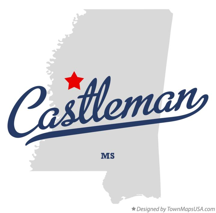 Map of Castleman Mississippi MS